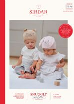 Sirdar Snuggly 100% Cotton Knitting Pattern - 5274 Rabbit & Teddy Hats